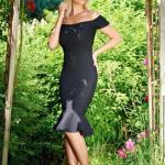 Rochie eleganta LaDonna neagra cu volanase la baza rochiei
