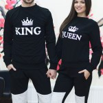Set Bluze King and Queen imprimate fata 108 Lei