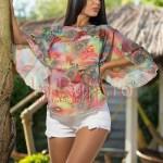 Bluza imprimeu multicolor