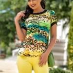 Bluza imprimeu multicolor din bumbac