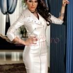 Jacheta argintie din piele ecologica
