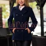 Palton dama elegant bleumarin