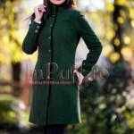 Palton dama verde inchis
