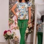 Pantaloni conici verzi