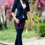 Pantaloni dama office bleumarin