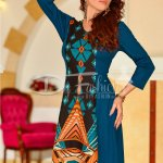 Rochie Abstract Blue Brown