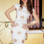 Rochie Beige Brown Leaves