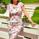 Rochie Erica Alba in Culori Pastelate