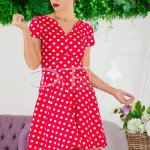 Rochie Lady In Red Dots