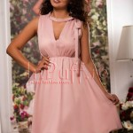 Rochie lejera de vara roz pudra