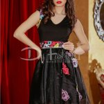 Rochie Magnificent Black Flowers