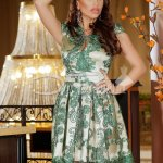Rochie Ravisal Green Beige