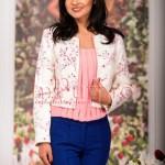 Sacou imprimeu floral roz