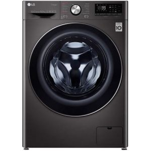 Masina de spalat rufe LG F4WV910P2S, 10.5 kg, 1400 RPM, Clasa A+++, Motor Direct Drive, Turbo Wash 360, Steam +, Smart Diganosis, WiFi, Negru pret ieftin