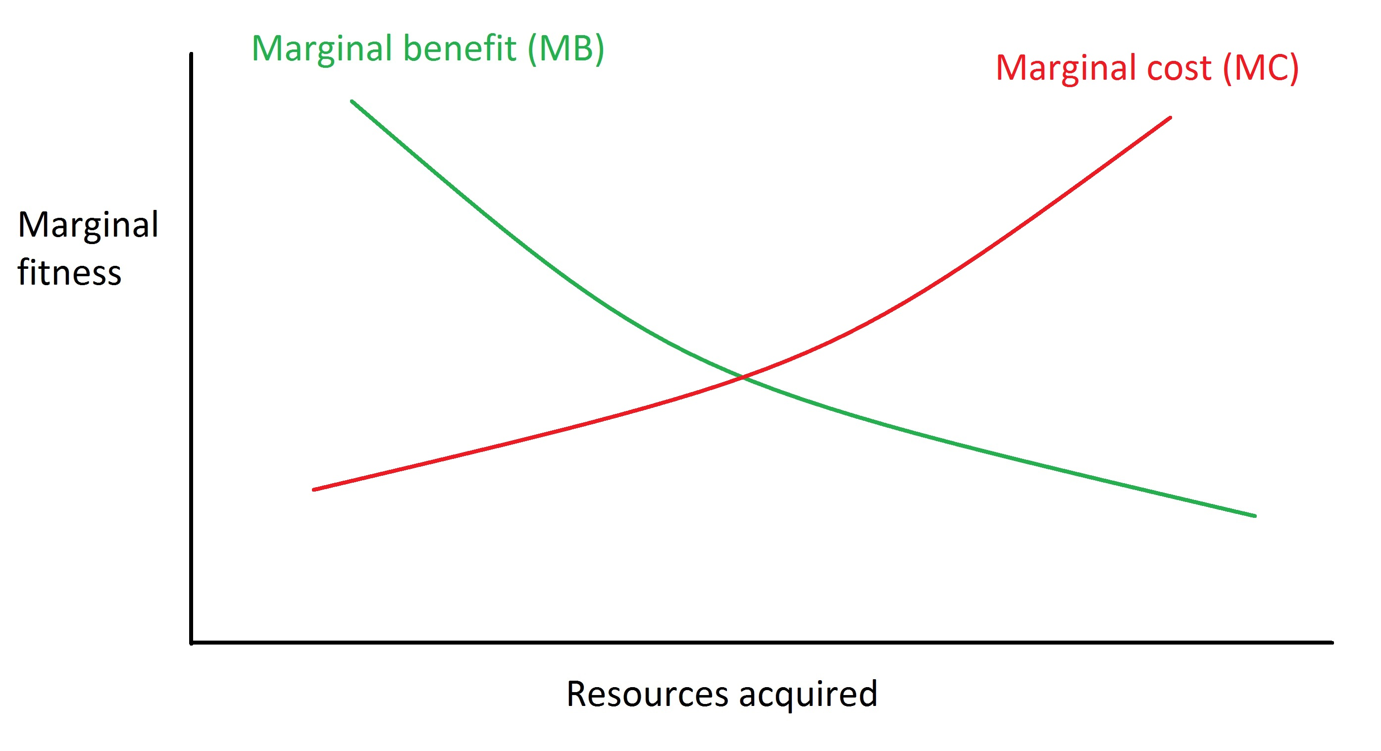 Marginal cost or benefits
