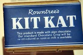 Kit Kat turned blue during world war 2