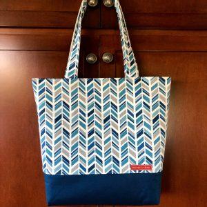 beautiful fabric tote bag geometric