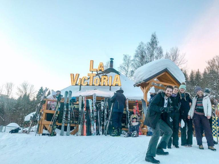Skiing in Czech Republic at Janske Lazne ski resort.