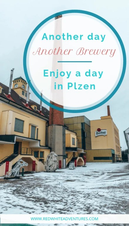 Pin for Pinterest of the Pilsner Urquell Brewery.