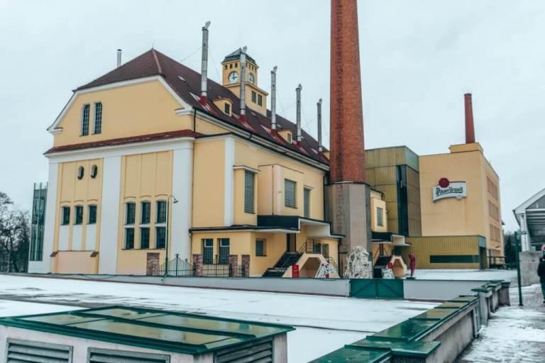 The famous Pislner Urquell Brewery.