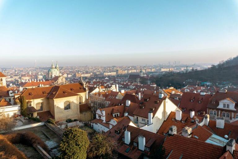 Lovely views of Old Town Prague in the summer.