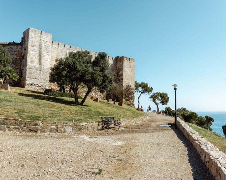 The famous castle in Fuengirola, Spain.