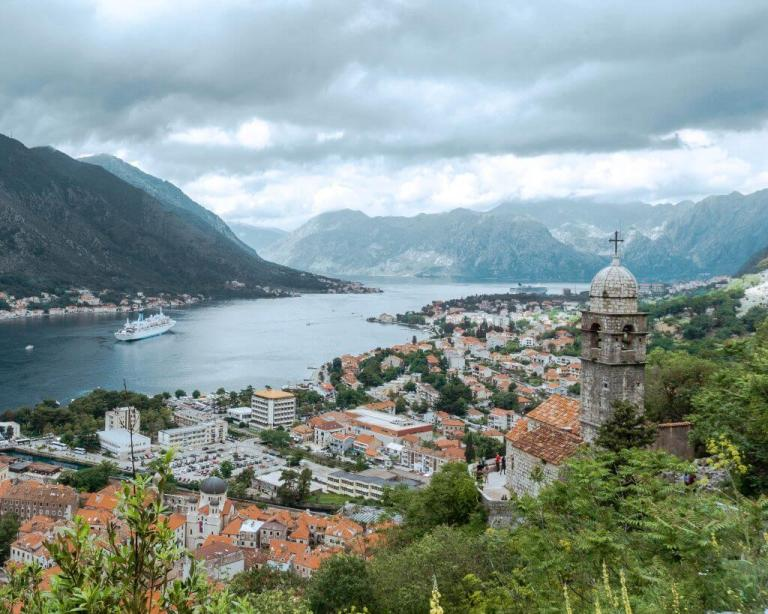 A beautiful photo taken while hiking the wall in Kotor.