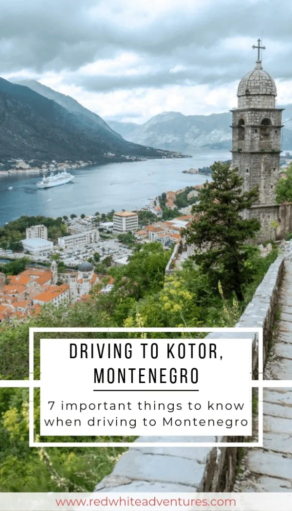Driving from Dubrovnik to Kotor is a fun day trip. Views from St John's fortress.