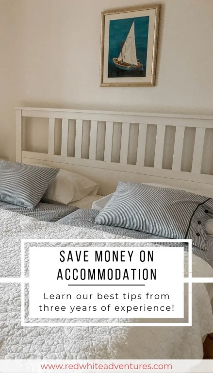 Airbnb bedroom in Croatia.