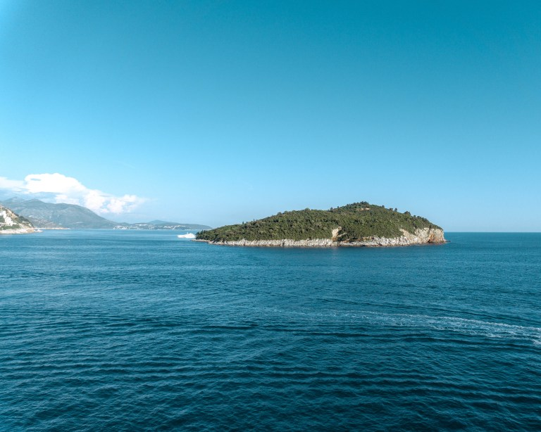 Visiting Lokrum Island on a day trip from Dubrovnik.