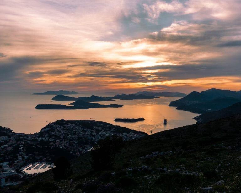 Hiking up to Mt Srd in Dubrovnik.