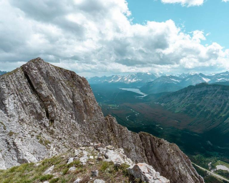 Views of Grizzly Peak summit in Alberta, Canada.
