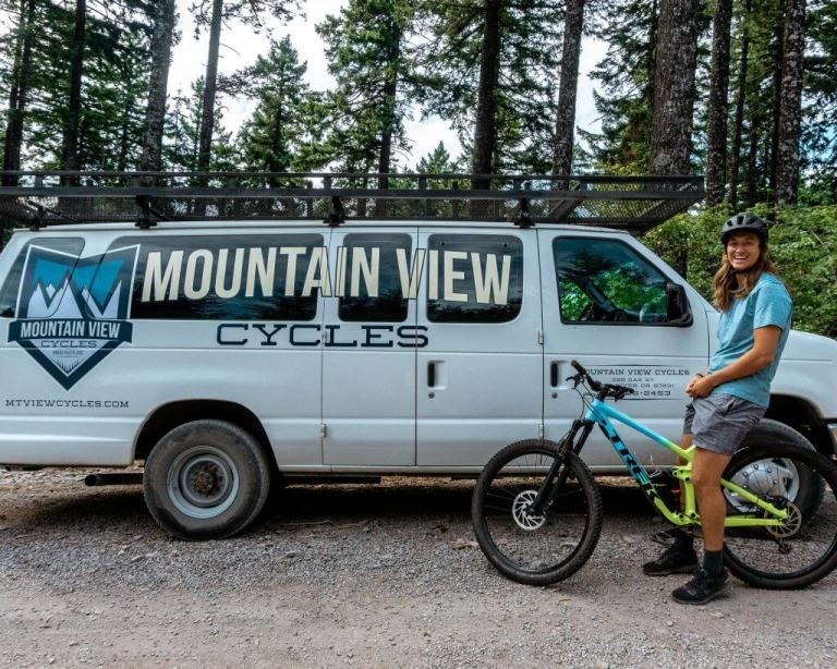 Mountain View Cycles van.