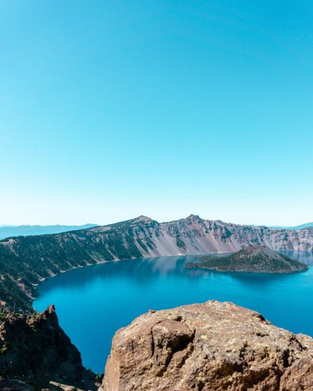 Crater Lake in Summer.