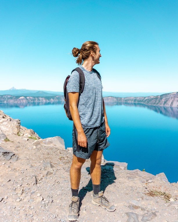 View from Garfield Peak in Crater Lake National Park.