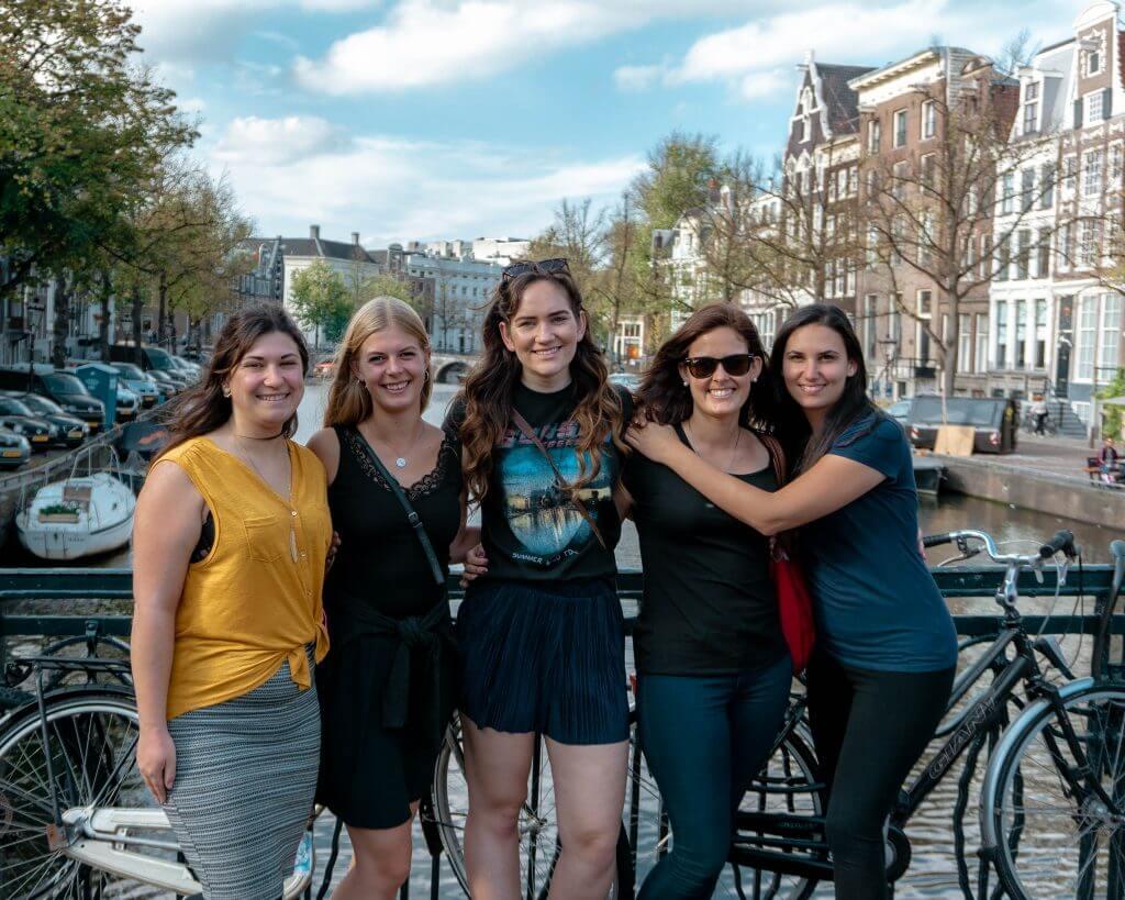 Friends in Amsterdam.