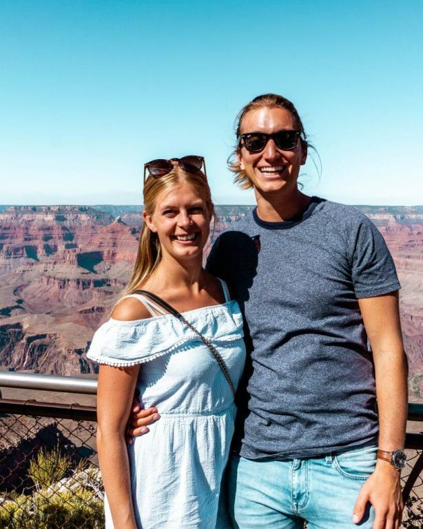 Dom and Jo visiting the Grand Canyon.