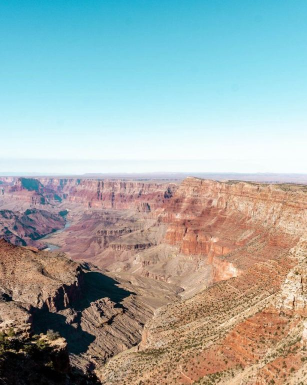 Views of the Grand Canyon and especially the South Rim.