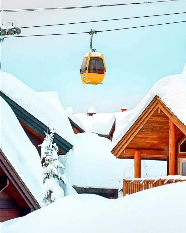 Gondola at Big White Ski Resort.
