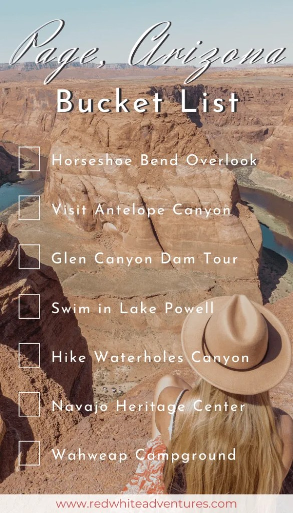 Page Arizona Bucket List that can be used for Instagram Stories.