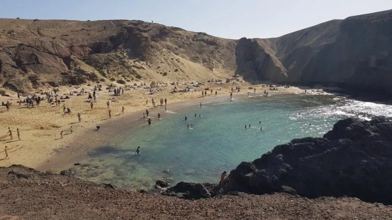 Lanzarote beach in Spain.