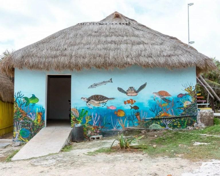 Beach hut in Cozumel.