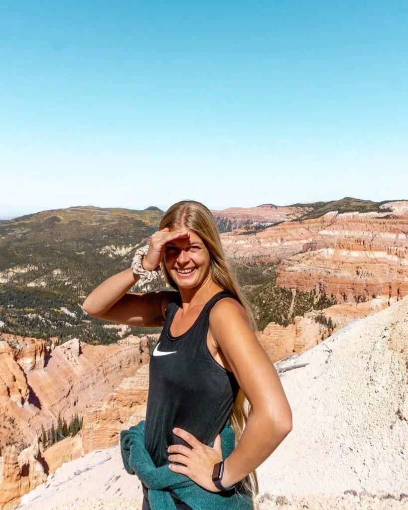 Hiking trails in Utah.