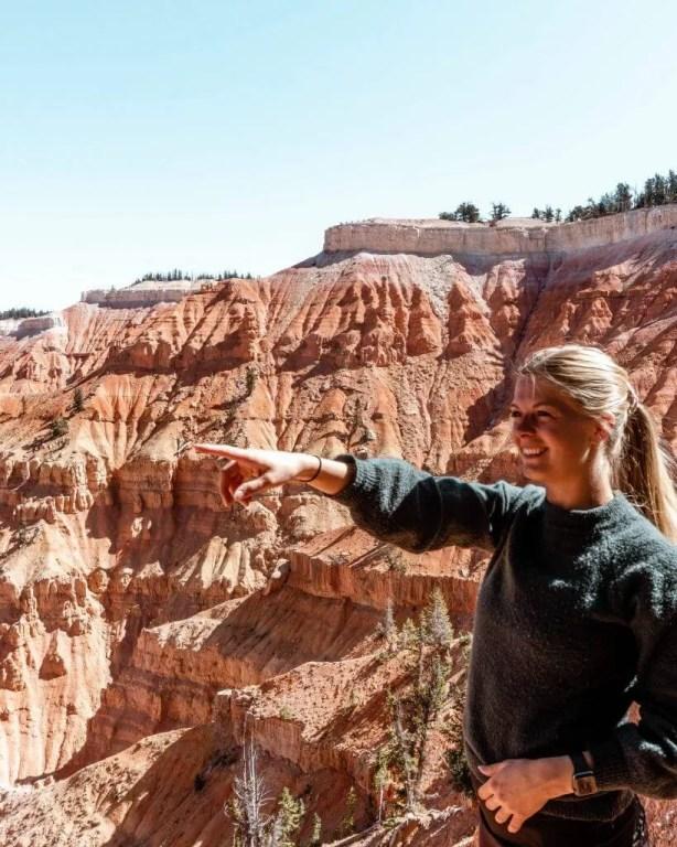 Enjoying the views of one of Utah's best hikes.