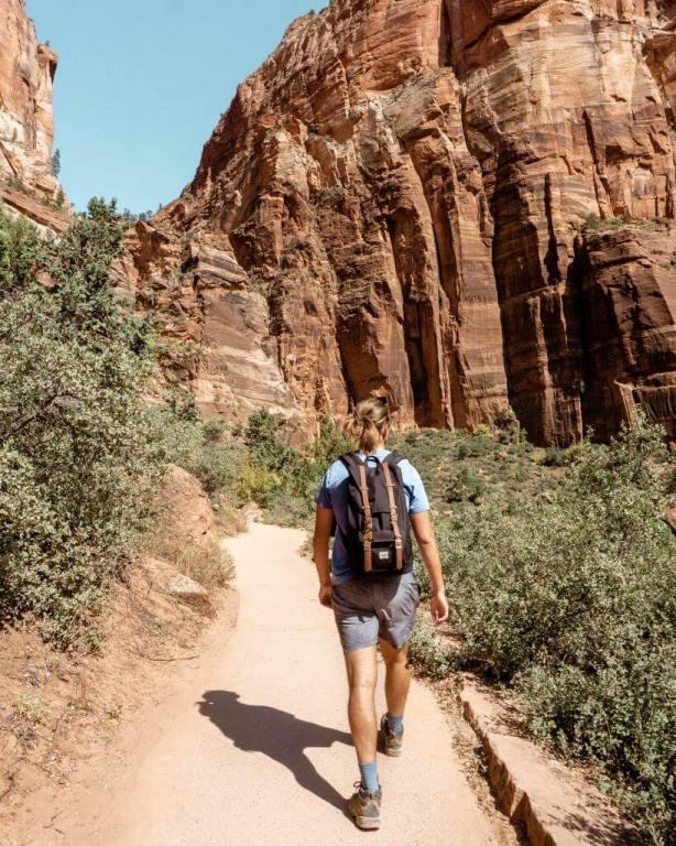 Dom hiking in southern Utah.