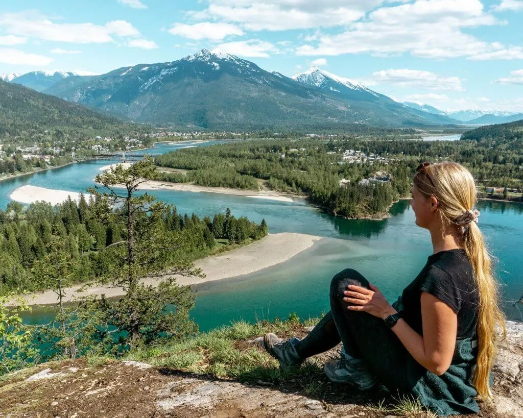 Jo enjoying the views of Revelstoke.