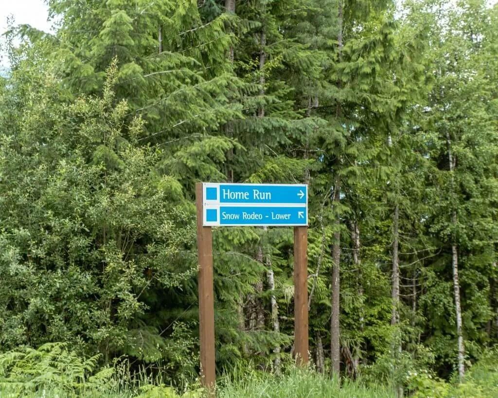 Home run trail at Revelstoke Mountain Resort