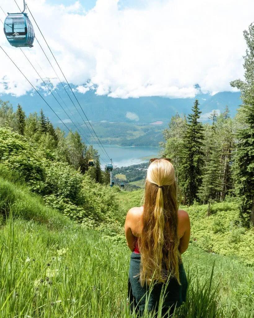 Jo enjoying the views while hiking in Revelstoke