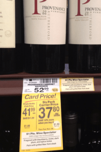 When buying wine, store shelf talkers can often contain incorect information or be misleading.
