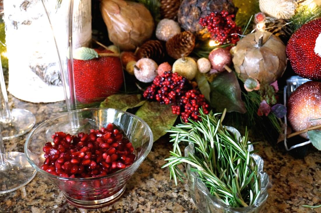 4 Festive Christmas Champagne Cocktail Recipe Pomegranate Rosemary